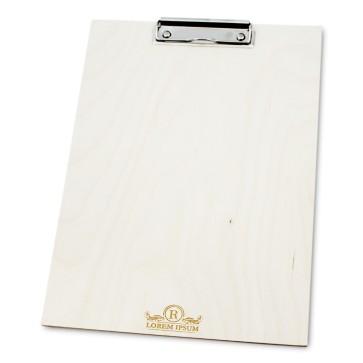 Drewniany clipboard A4+ z grawerem (surowy)