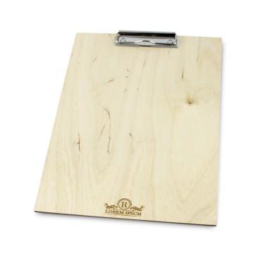 Drewniany clipboard A4+ z grawerem (lakierowany)