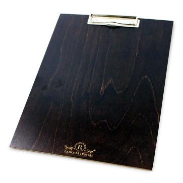Drewniany clipboard A4+ z grawerem (brąz)