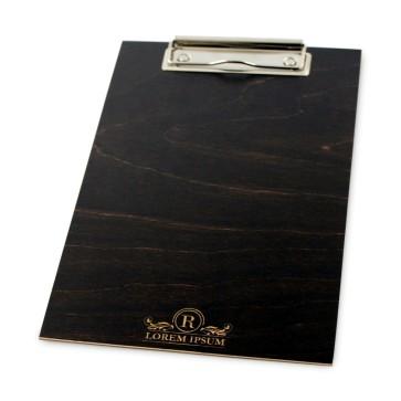Drewniany clipboard A5+ z grawerem (brąz)