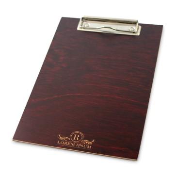 Drewniany clipboard A5+ z grawerem (mahoń)