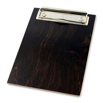 Drewniany clipboard A6 (brąz)