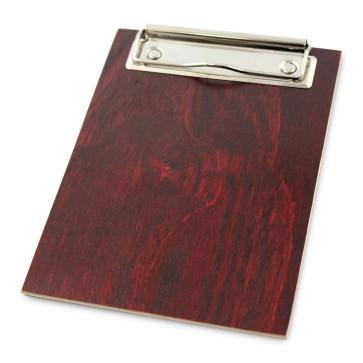 Drewniany clipboard A6 (mahoń)