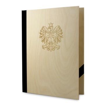 Drewniana okładka na dyplom A4 (surowa)