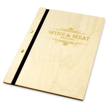 Drewniana okładka na menu (lakierowana)
