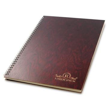 Drewniany notatnik A4 – 100 kartek (mahoń)