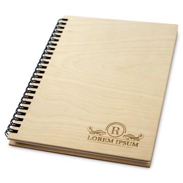 Drewniany notatnik A5 – 100 kartek (surowy)
