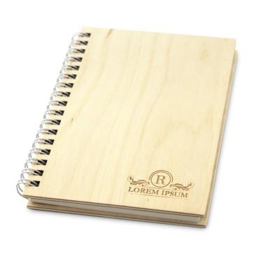 Drewniany notatnik A6 – 100 kartek (surowy)