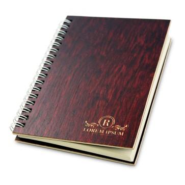Drewniany notatnik A6 – 50 kartek (mahoń)