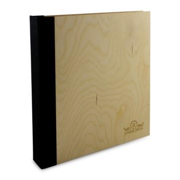 Drewniany segregator A4 – 100 kartek (surowy)