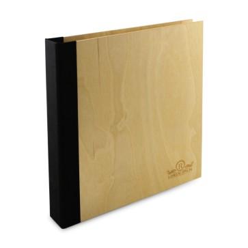 Drewniany segregator A4 – 20 kartek (lakierowany)