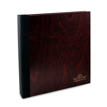 Drewniany segregator A4 – 20 kartek (mahoń)
