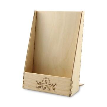 Drewniany stojak na ulotki A6 – model 1 (surowy)