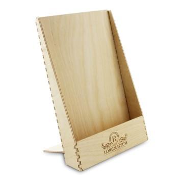 Drewniany stojak na ulotki A5 – model 1 (surowy)