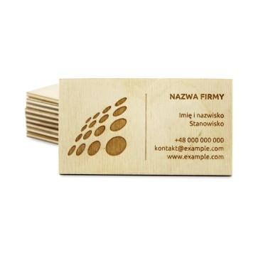 Drewniane wizytówki 3 mm (surowe)