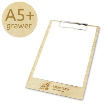Drewniany clipboard A5+ z grawerem (lakierowany)