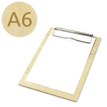 Drewniany clipboard A6 (lakierowany)