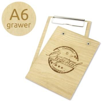Drewniany clipboard A6 z grawerem (lakierowany)