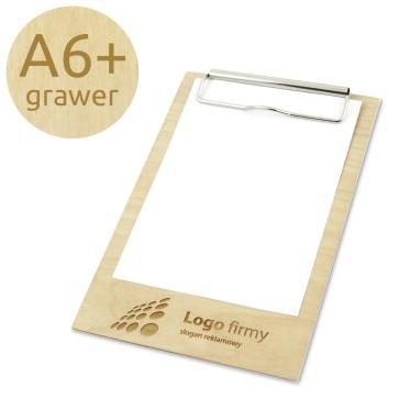 Drewniany clipboard A6+ z grawerem (lakierowany)