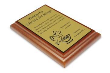 Dyplom na drewnianym podkładzie – prostokątny – 100x150 mm
