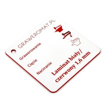 Laminat biały/czerwony 1,6 mm