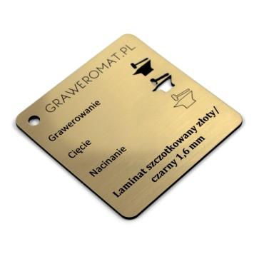 Laminat szczotkowany złoty/czarny 1,6 mm
