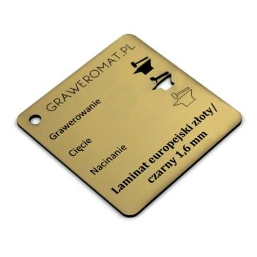 Laminat europejski złoty/czarny 1,6 mm