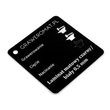 Laminat matowy czarny/biały 0,5 mm