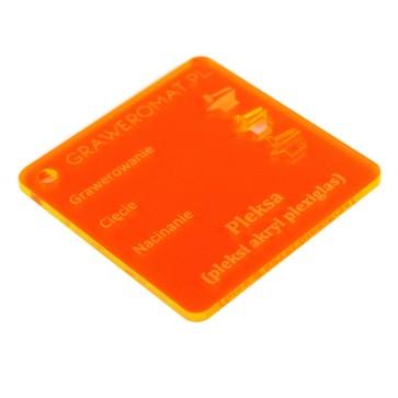 Pleksa pomarańczowa fluo 3 mm