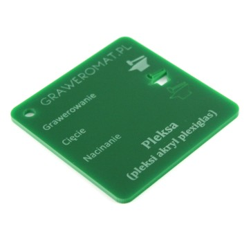 Pleksa zielona 3 mm