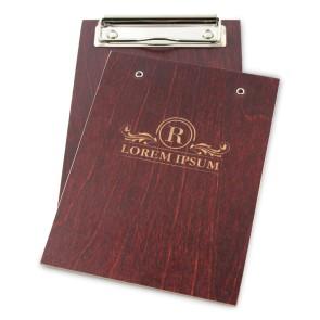 Drewniany clipboard A6 z grawerem (mahoń)