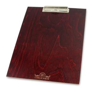 Drewniany clipboard A4+ z grawerem (mahoń)