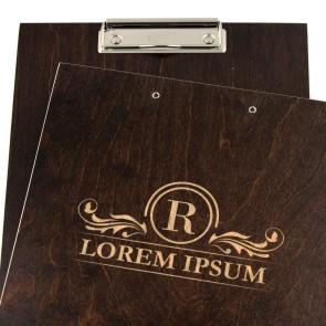 Drewniany clipboard A4 z grawerem (brąz)