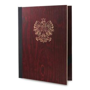 Drewniana okładka na dyplom A4 (mahoń)