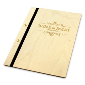 Drewniana okładka na menu (surowa)