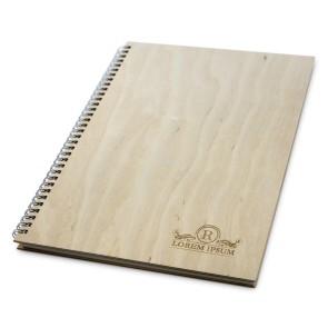 Drewniany notatnik A4 – 50 kartek (surowy)