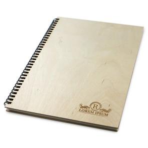 Drewniany notatnik A4 – 50 kartek (lakierowany)