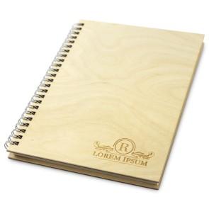Drewniany notatnik A5 – 100 kartek (lakierowany)