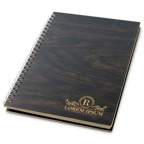 Drewniany notatnik A5 – 100 kartek (brąz)