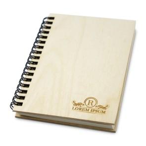 Drewniany notatnik A6 – 50 kartek (lakierowany)