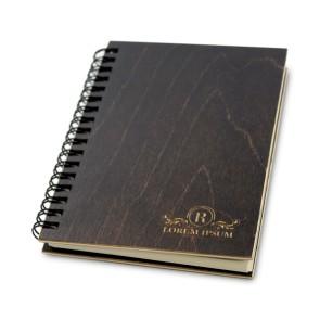 Drewniany notatnik A6 – 100 kartek (brąz)