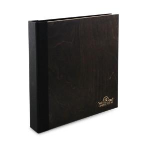 Drewniany segregator A4 – 100 kartek (brąz)