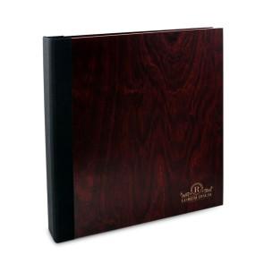 Drewniany segregator A4 – 100 kartek (mahoń)