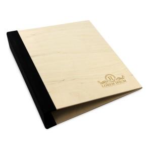 Drewniany segregator A5 – 50 kartek (surowy)