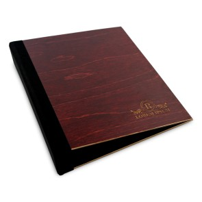 Drewniany segregator A5 – 100 kartek (mahoń)