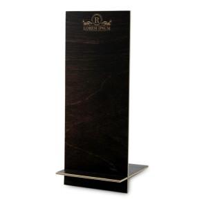 Drewniany stojak na ulotki DL – model 2 (brąz)