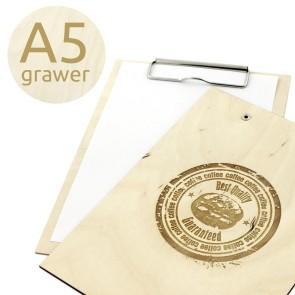 Drewniany clipboard A5 z grawerem (surowy)