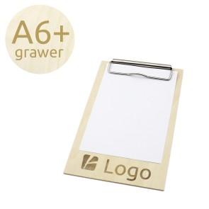 Drewniany clipboard A6+ z grawerem (surowy)