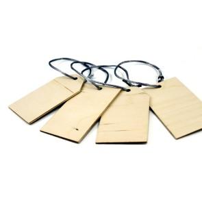 Drewniane bileciki na prezenty (surowe)