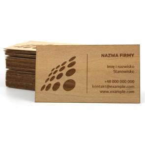 Drewniane wizytówki 0,6 mm (surowe)